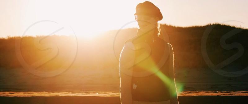 woman in black sunglasses  photo