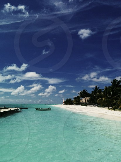 Maldivian beach. photo