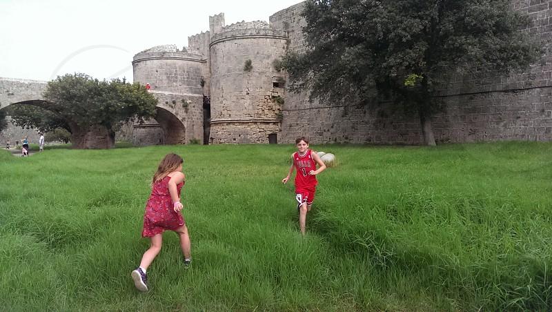 Old Rhodes Town - Rhodes. kids fun exploring castle Rhodes holidays photo