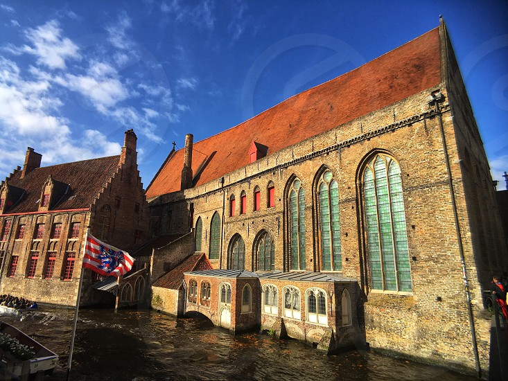 Beautiful old hospital building in the centre of Brugge Belgium. photo