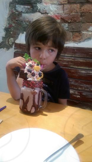 mostrous chocolate shake photo