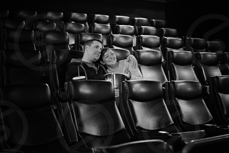 Elegant black theatre couple movie photo