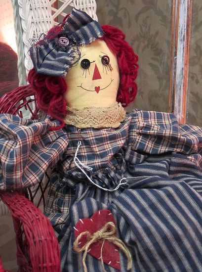 Raggedy Ann in Red White and Blue photo