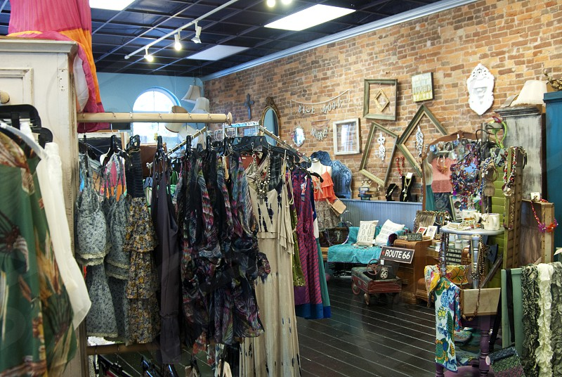 Bentonville AR shopping at boutique clothing store photo