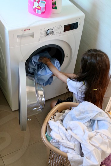 Laundry washing chores  photo