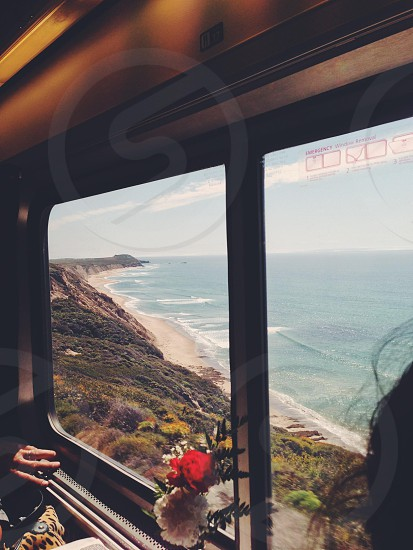 Train ride up the California coast.  photo