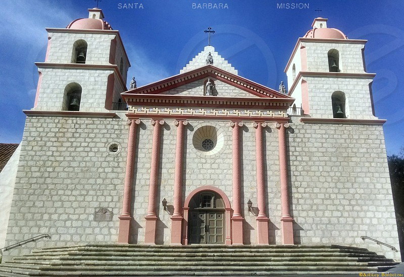 Taken in the morning with the sunrise this is Santa Barbara Mission photo