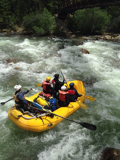 Whitewater rafting in Colorado  photo