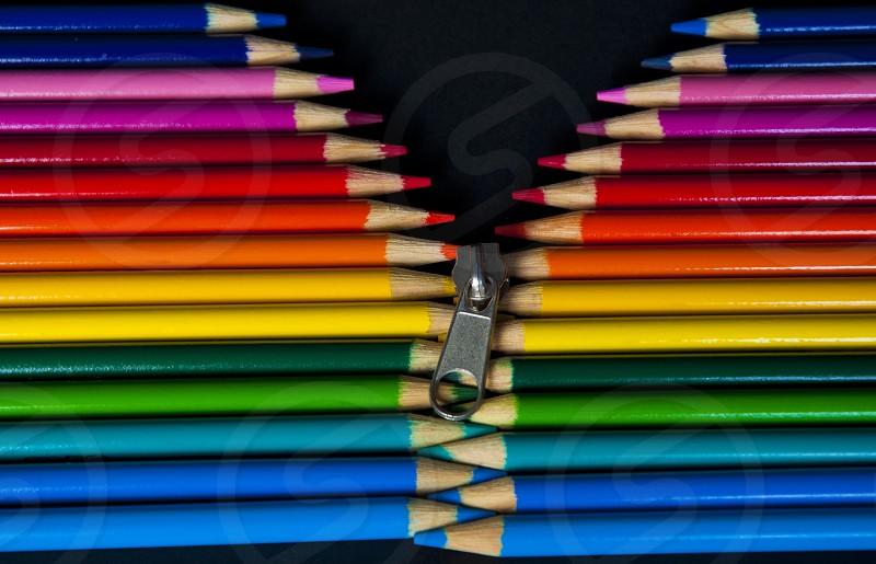 Pencils Zipper Colors photo