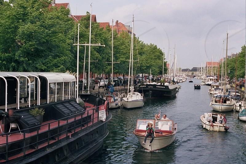 Copenhagen Canals Boats Social Film Europe photo