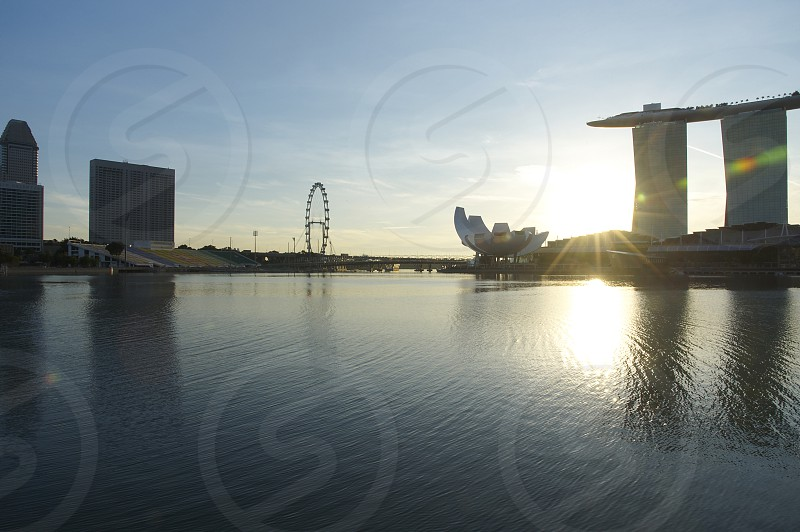 Marina Bay Sands in the city centre of Singapore is a landmark around the world photo