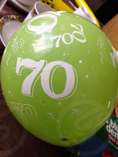 70th B'day Balloon huge green 70 number photo