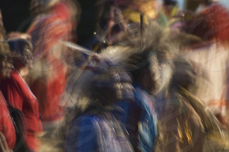 Impressionistic PowWow Dancers photo