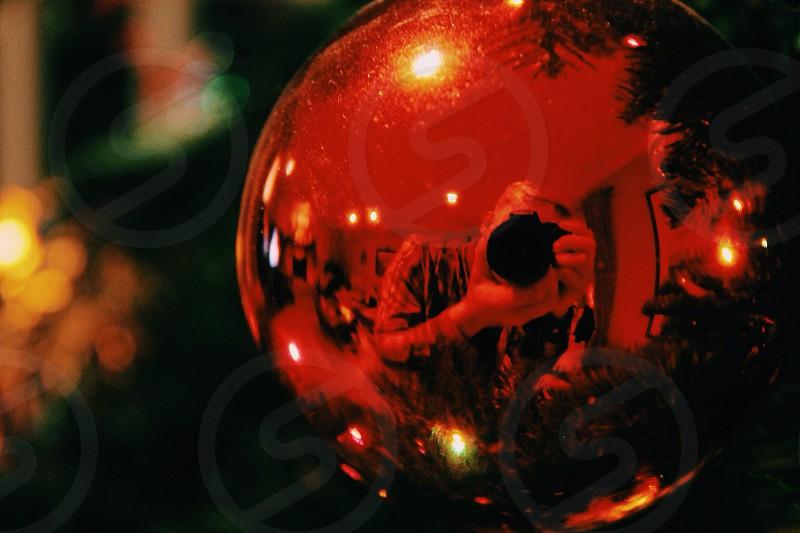 Christmas ornament reflection photo