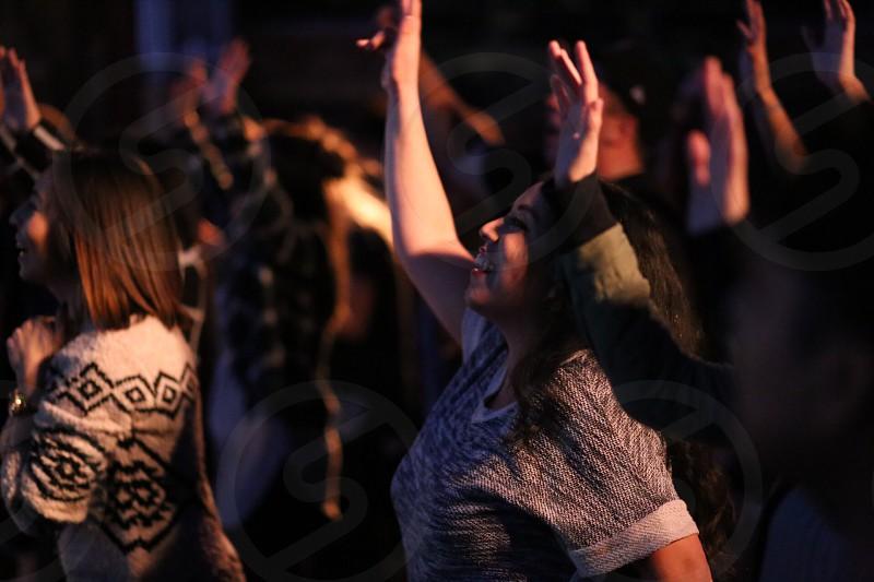 people praising and worship photo