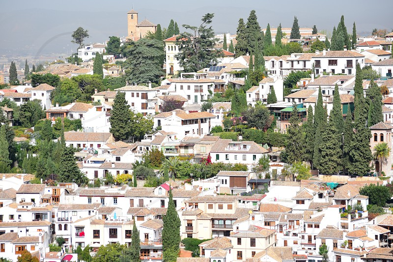 A bird's eye view of the city of Granada photo
