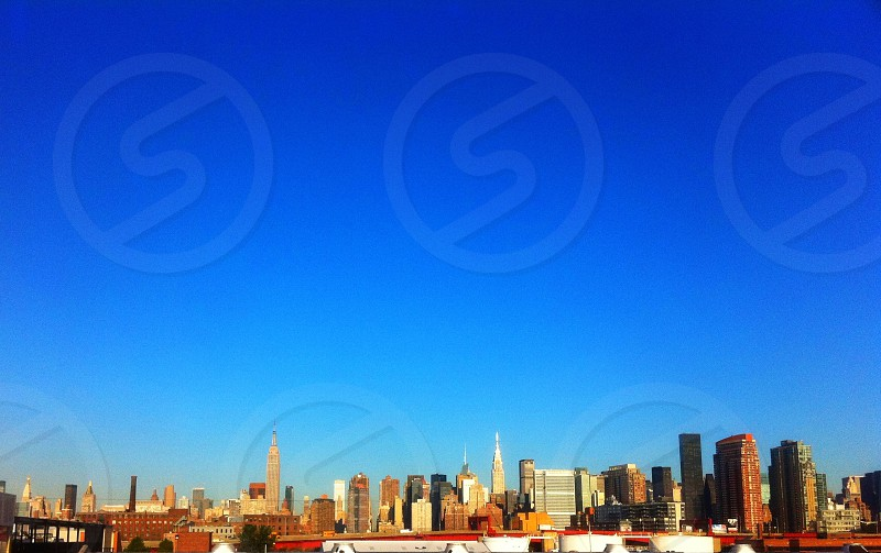 view of buildings and blue sky photo