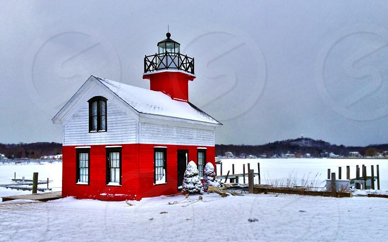 Saugatuck Lighthouse    Lakeshore photos    Front Door Photos photo