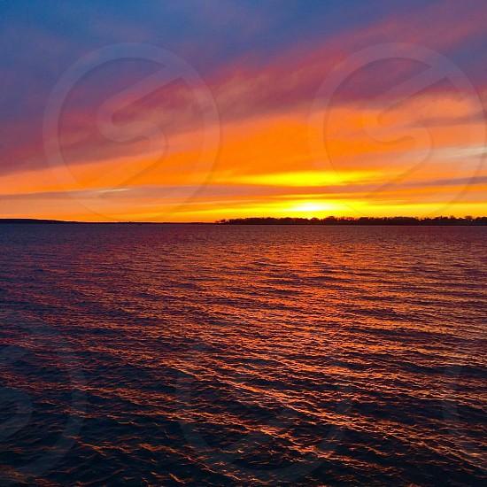 SunsetRhode Island Bristol water  photo