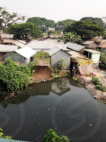 The real 99%- urban slum in Dhaka Bangladesh  photo