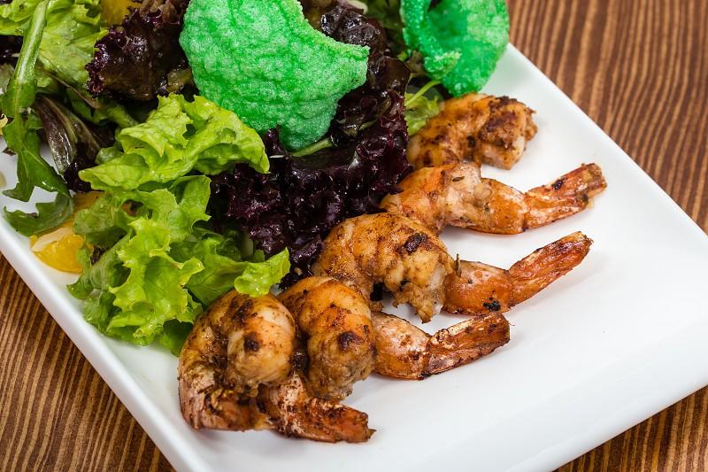 salad with shrimps photo