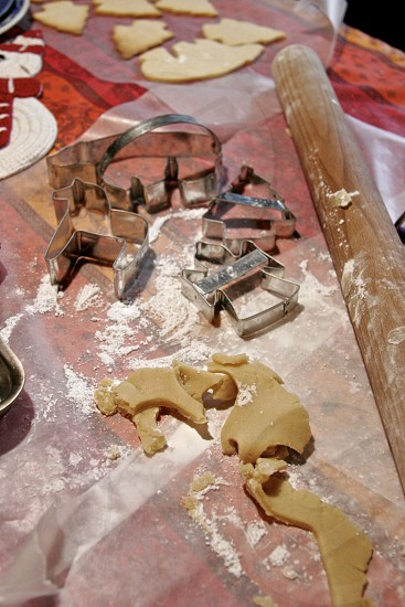 making sugar cookie cutouts photo