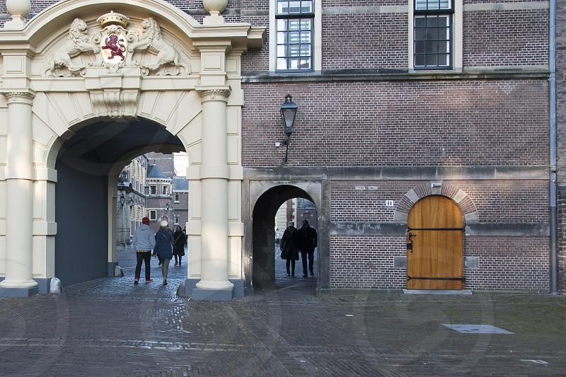 Binnenhof - The Hague Historical Birthplace of the Dutch Democracy and toerist destination. photo