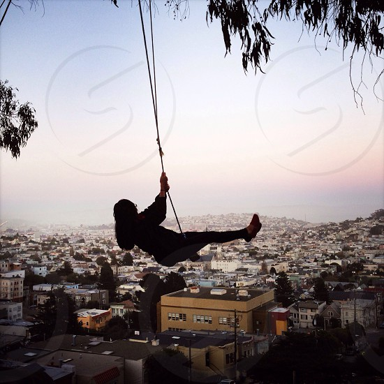 Swinging over San Francisco photo