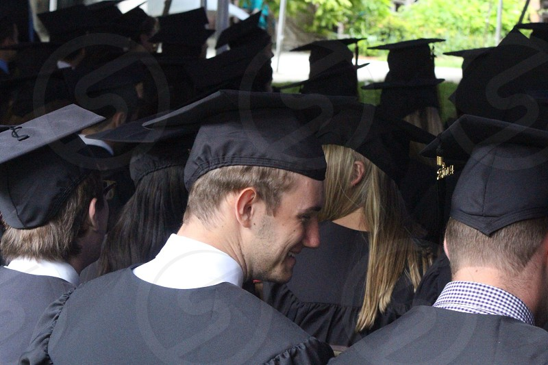 man in black mortar board photo