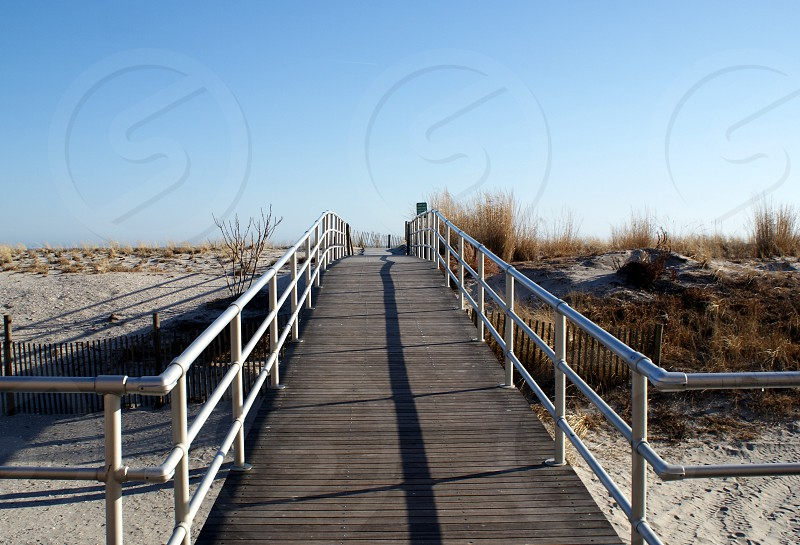 beach boardwalk Atlantic city new jersey photo