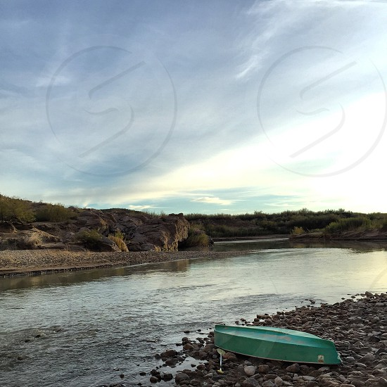 Canoe/paddle on Rio Grande River photo