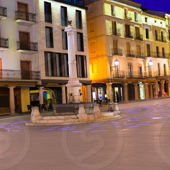 Aragon Teruel plaza el torico in Carlos Castel square of Spain photo