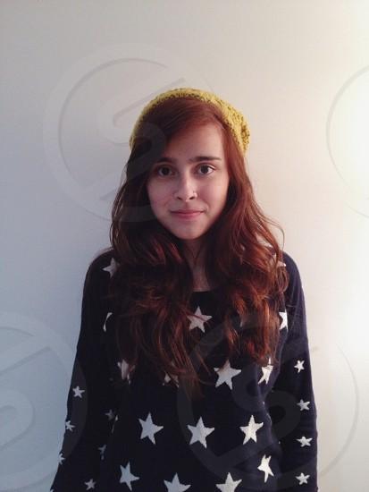 women's black star printed sweater photo
