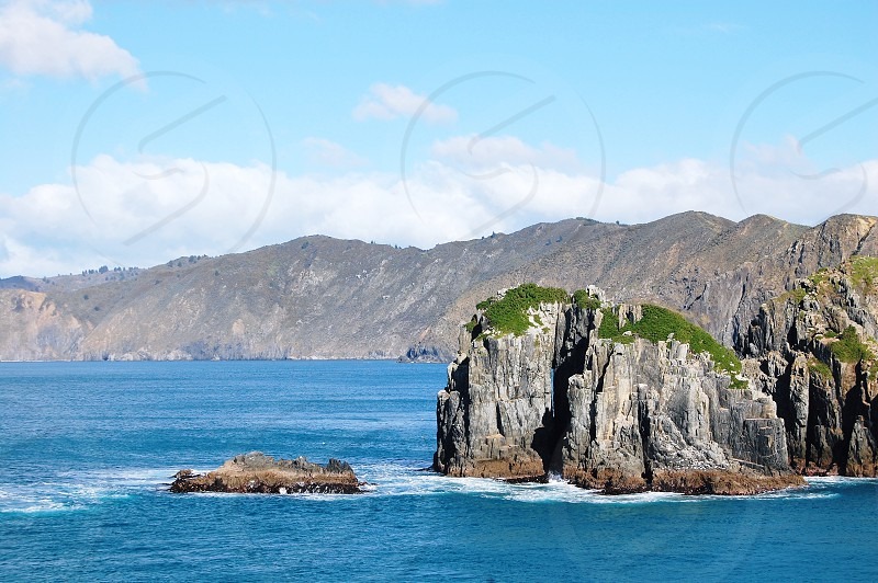 New Zealand Ocean Sea Rocks landscape photo