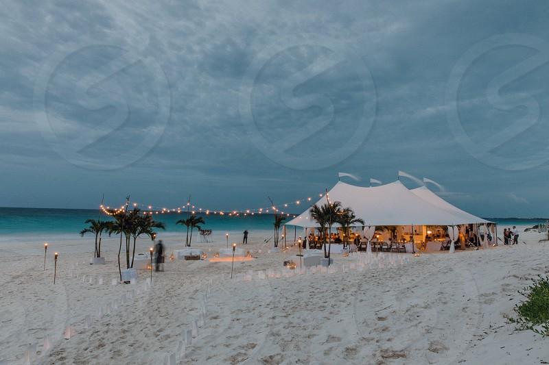 landscape portrait Bahamas exotic beach photo