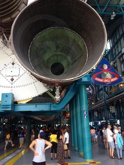 Saturn V main booster engine photo