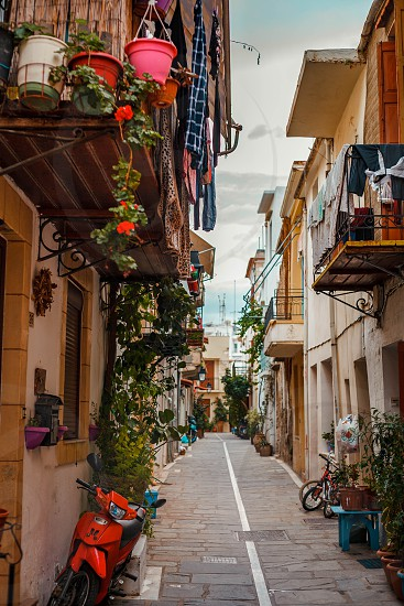 Rethymno city old town in Crete Greece photo