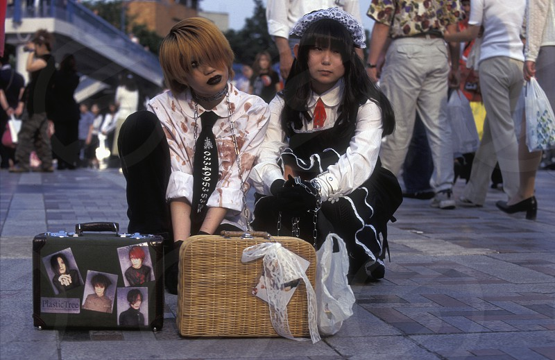 the revolucionary Rainbowkids in a squre in the City centre of Tokyo in Japan in Asia photo