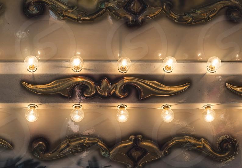 Luna Park lights close up photo