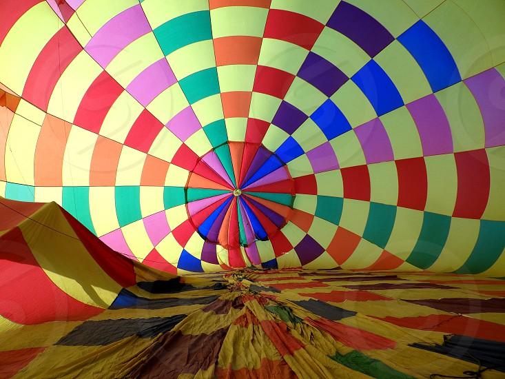 Inside A Hot Air Balloon. photo