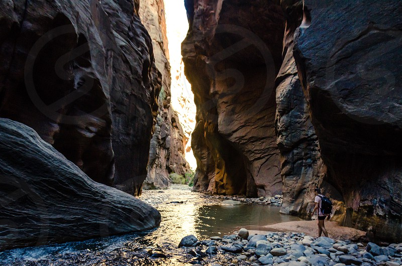 The narrows. Zion national park photo