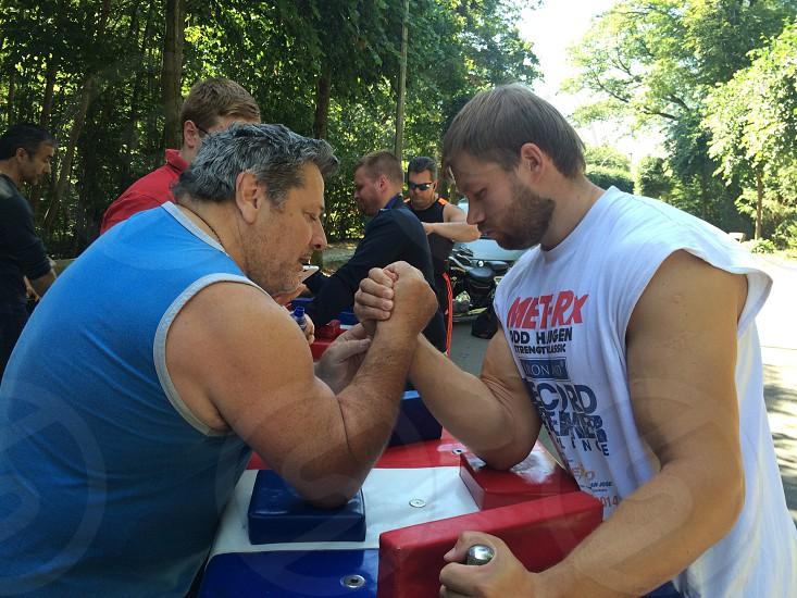 Sports armwrestling park photo
