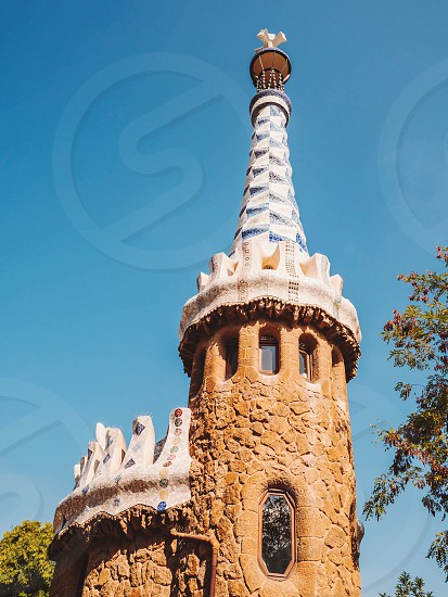 Tower Of Gate House - Park Guell Barcelona Catalonia Spain Europe photo