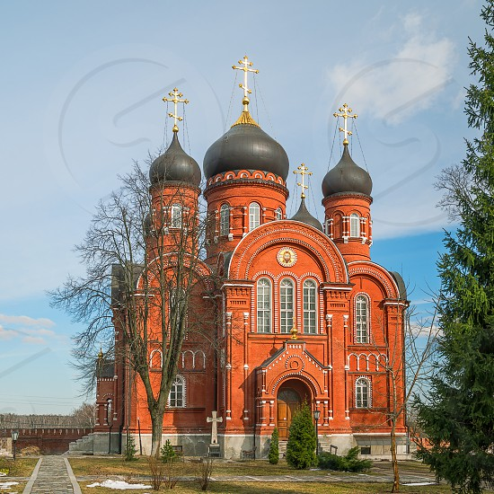 The Ascension Cathedral in the Holy Cross Convent. Lukino village. Moscow region. Russia photo