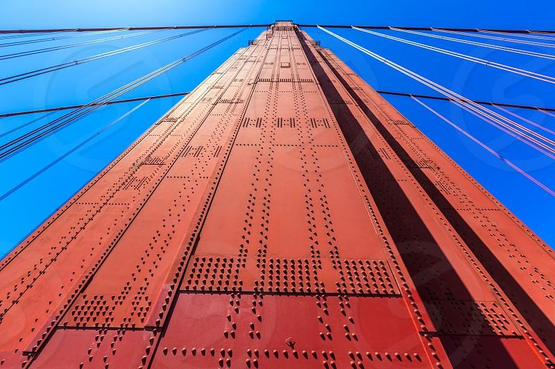 Golden Gate Bridge details in San Francisco California USA photo