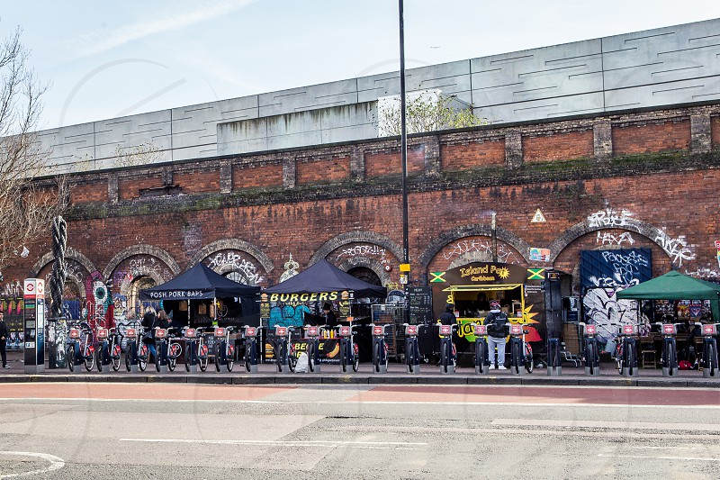 Street Food Stalls Shoreditch London photo