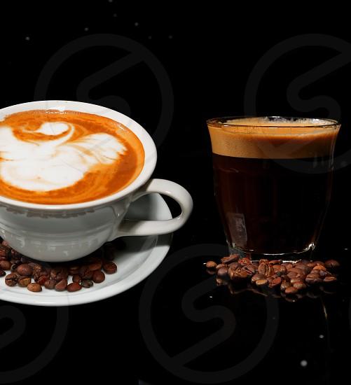 Coffee cappucino swan latte photo