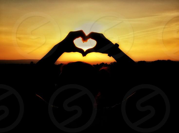 #sunset #love #hands #peaceful #heart #warm #pennsylvania photo