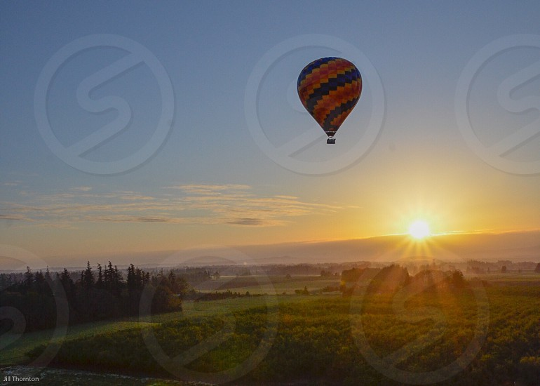 Oregon hot air balloon sunrise  photo