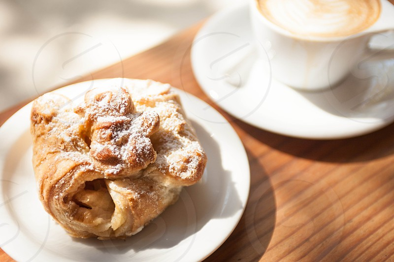 Pastry with coffee photo